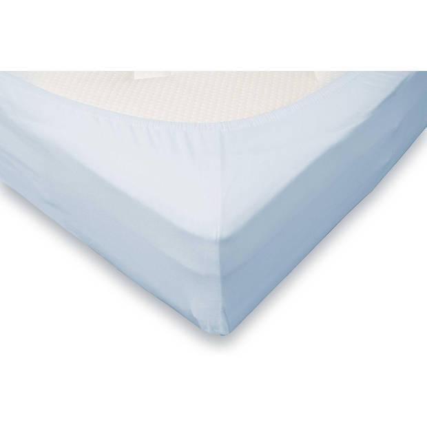 Elegance Hoeslaken Jersey Katoen Stretch 35cm Hoge Hoek - licht blauw 140x210/220cm