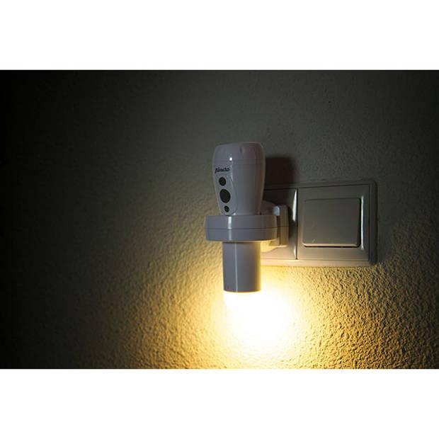 Alecto ATL-110 Oplaadbare LED zaklamp / automatisch LED nachtlampje, wit