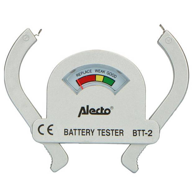 Alecto BTT-2 Compacte universele batterijtester voor AA, AAA, C, D en 9V batterijen