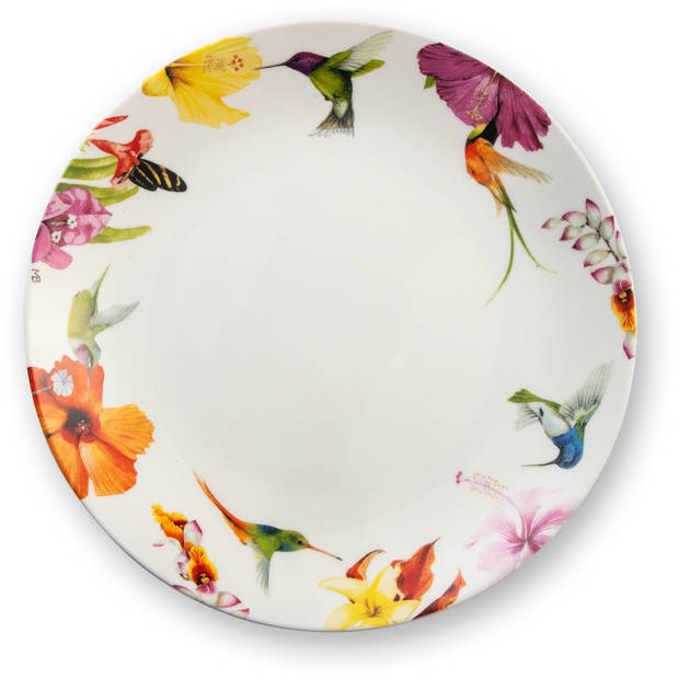 Marjolein Bastin dinerbord Hummingbirds wit Ø25cm