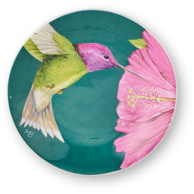 Marjolein Bastin petit four Hummingbirds groen Ø12cm