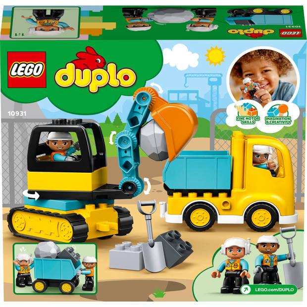 LEGO DUPLO Construction Truck & Graafmachine met rupsbanden 10931