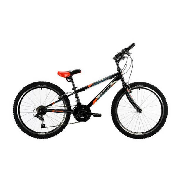 Marlin Cedric Hardtail Mountainbike 24 Inch 28 cm Jongens 18V V-Brakes Zwart/Rood