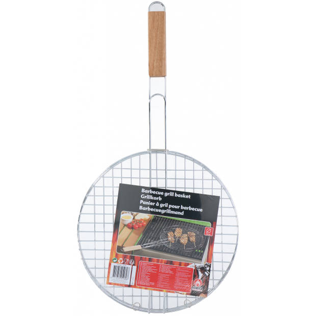 BBQ Collection grillrooster barbecue 30 cm rond zilver