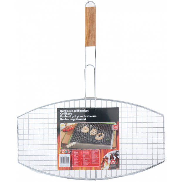 BBQ Collection grillrooster barbecue 45 x 25 cm ovaal zilver