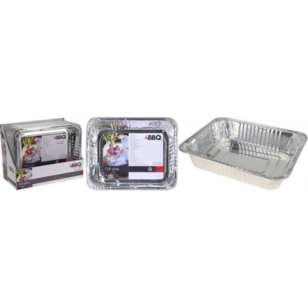 BBQ aluminium bereidingsbak zilver 36 x 29 x 7,5 cm