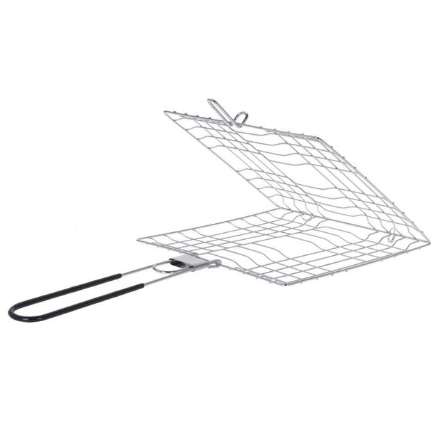 BBQ rooster barbecue staal 22 x 22 x 41 cm