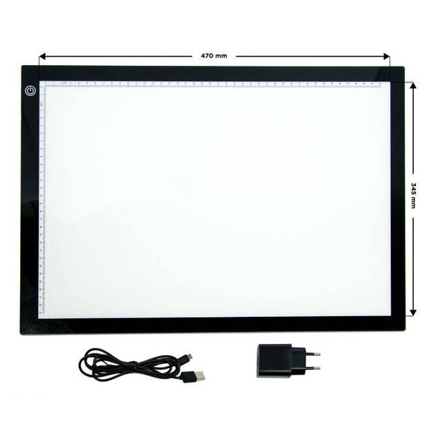 Crafts & Co A3 Light Pad - LED Tekenbord - 470 x 345mm