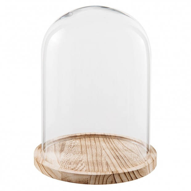Clayre & Eef - stolp Ø 23*29 cm - transparant - glas - rond - 6GL2171