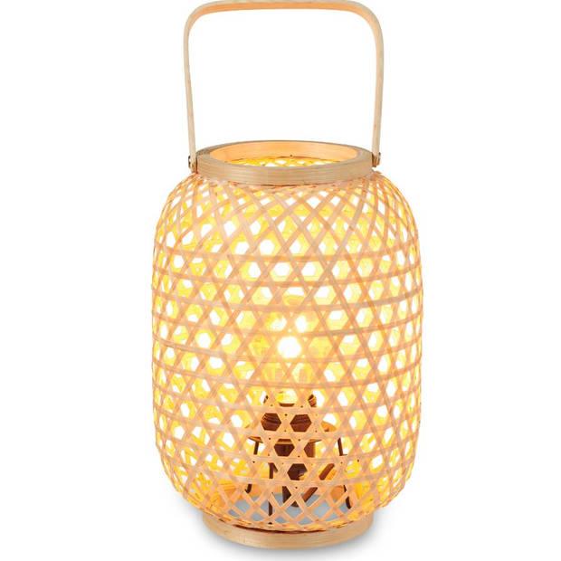 Blokker tafellamp Bali - bamboo - 20x20x27 cm