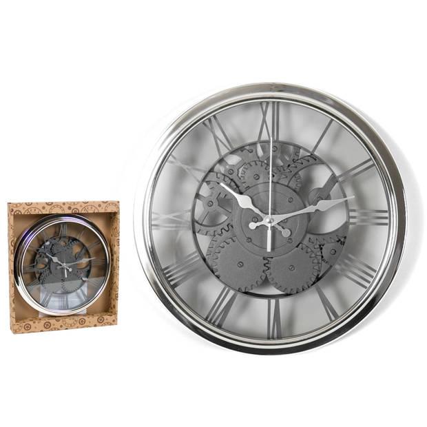 Gerimport - Wandklok Klassieke-stijl quartz-mechanisme XL 30 cm – Klokken – Tijd – Decoratie - Woonaccessoires