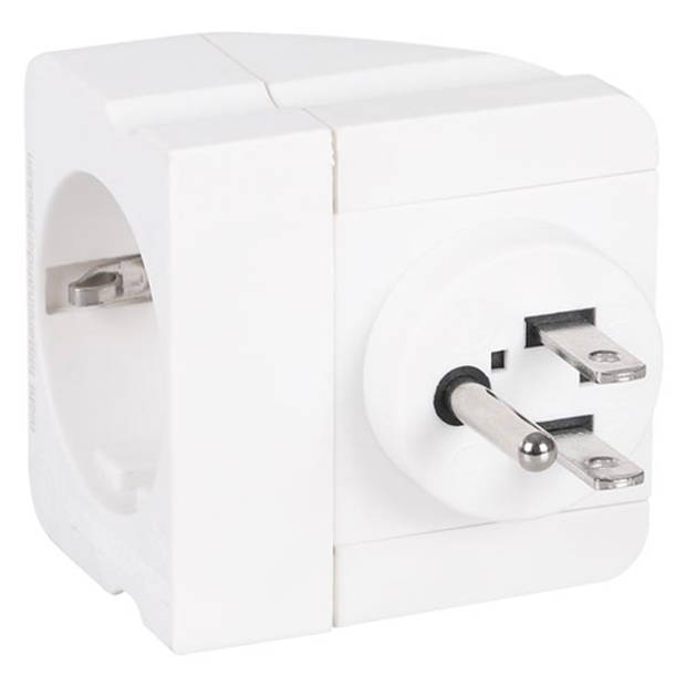 Q-lINK Adapter reisstekker randaarde AU/IT/ZW/UK/US