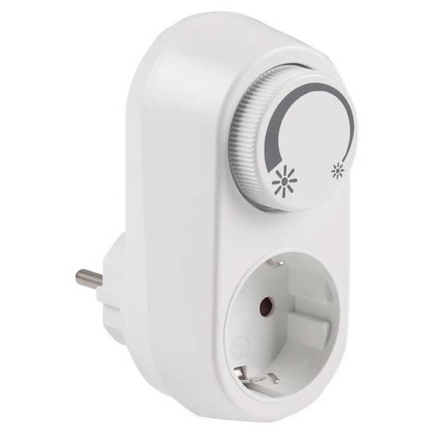 Q-LINK Stekkerdimmer LED 3-24W/30-200W wit