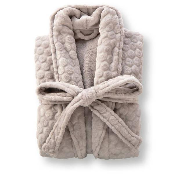 Blokker badjas Luxury - grijs - L/XL