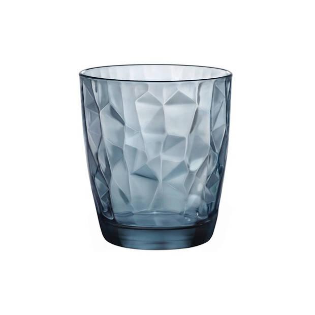 Bormioli Glas Diamond Blauw 30 cl