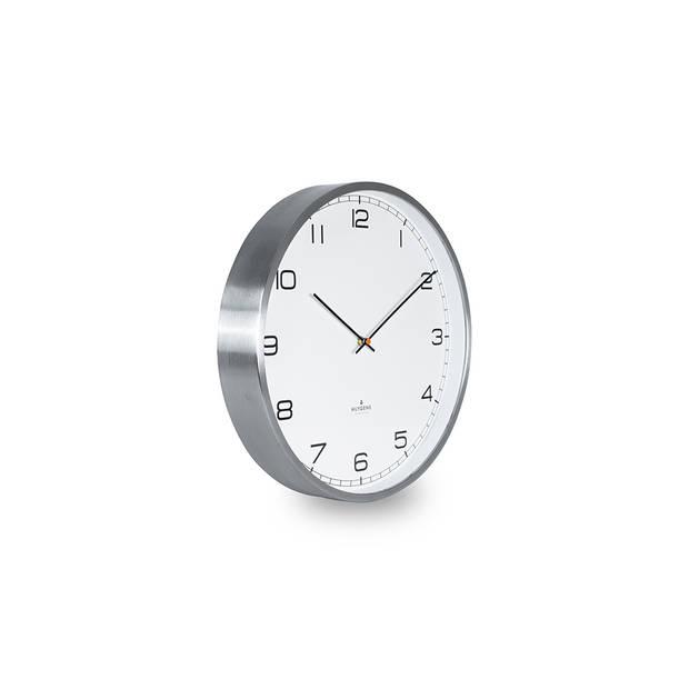 Huygens - One Arabic 45cm - RVS - Wandklok - Stil - Quartz uurwerk