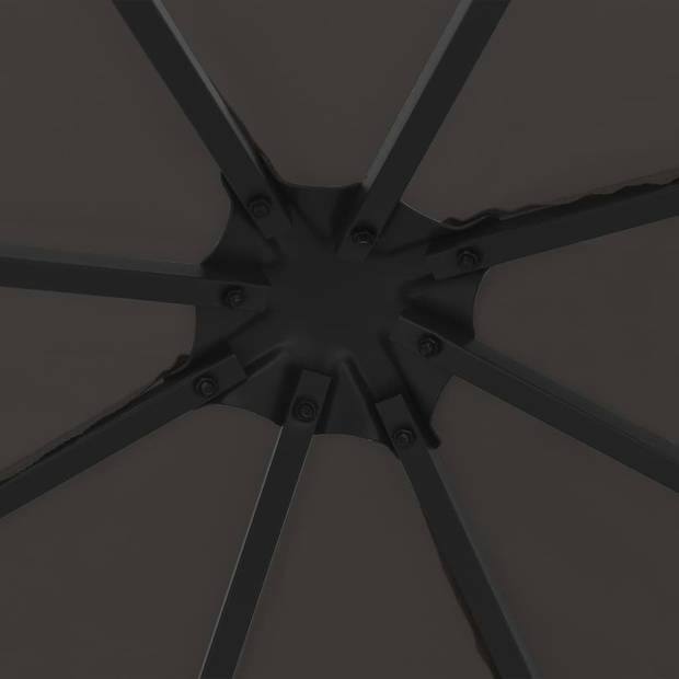 vidaXL Prieel 3x3 m antraciet