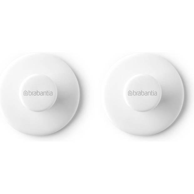 Brabantia Renew Handdoekhaakjes, Set Van 2 - White