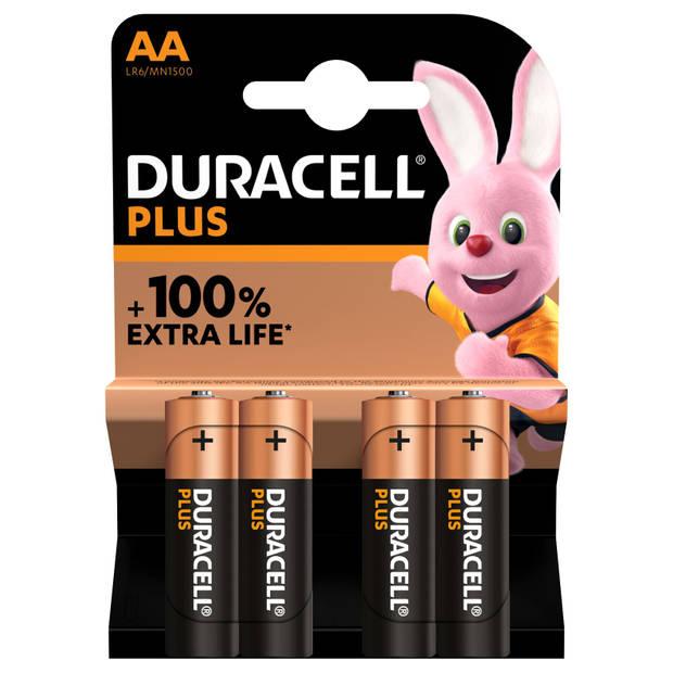 Duracell Plus AA Alkaline batterij 4St