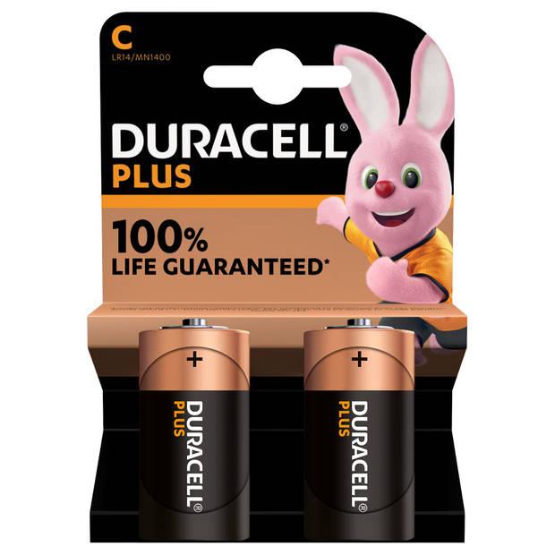 Duracell Plus C Alkaline batterij 2 St