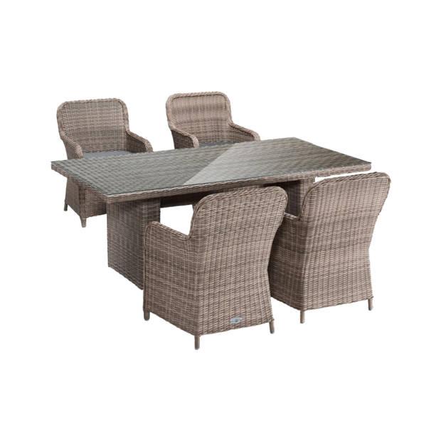 Bari tuinset 4 stoelen + tafel