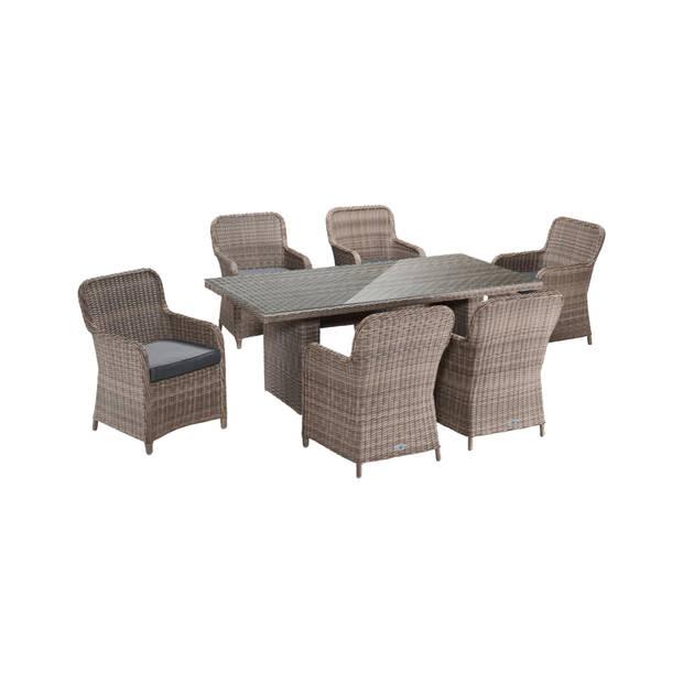 Tuinset Gardini Bari 6 stoelen + tafel