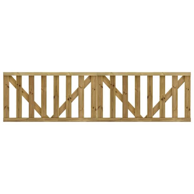 vidaXL Poorten gelat 2 st 150x80 cm geïmpregneerd grenenhout