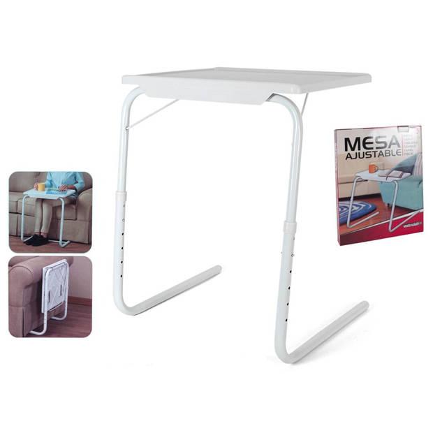 Gerimport - Multifunctionele inklapbare bijzettafel – 52x40x72cm – bedtafel – Laptoptafel – Inklapbaar