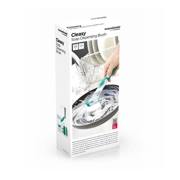 Innovangoods - Schuurborstel met handvat en zeepdispenser