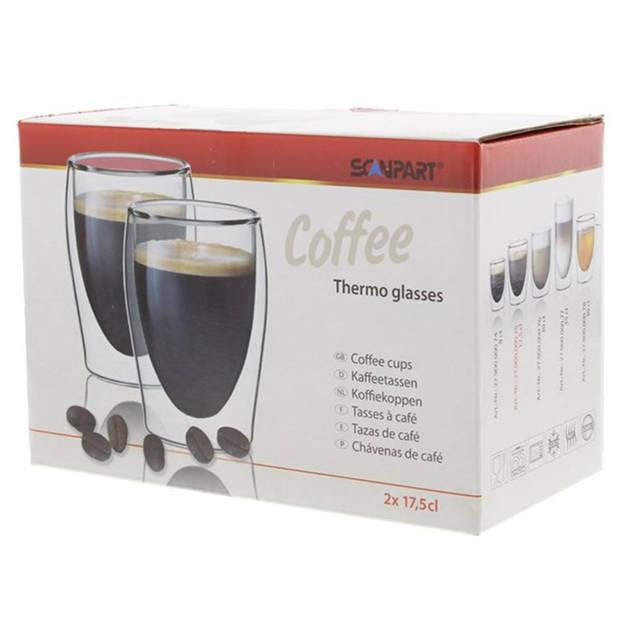Scanpart koffie thermoglazen 2 stuks