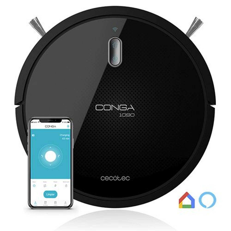 Cecotec 1090 Serie Robotstofzuiger Met Dweilfunctie Wifi En Afstandsbediening Google Home En Alexa