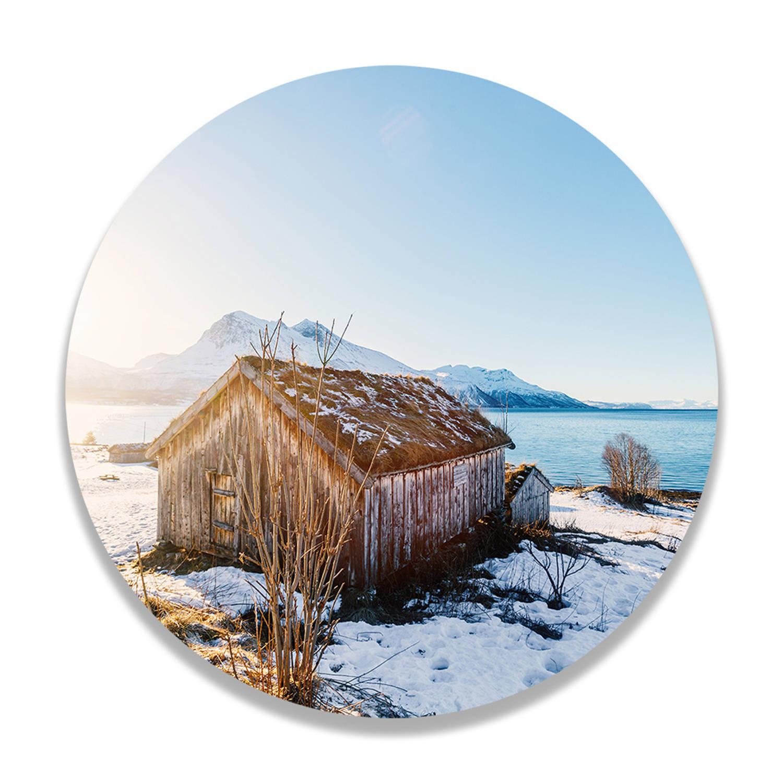 Wandcirkel Houten Hut