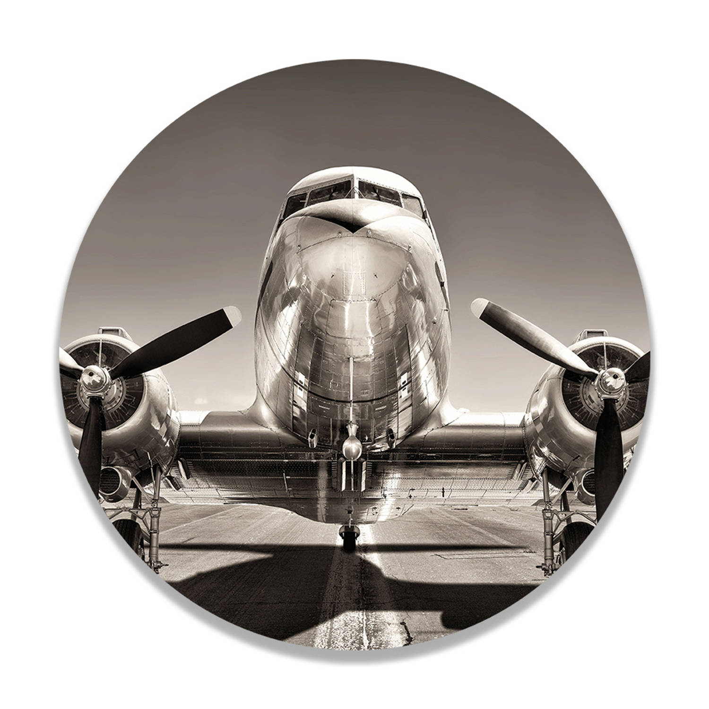 Wandcirkel Airplane