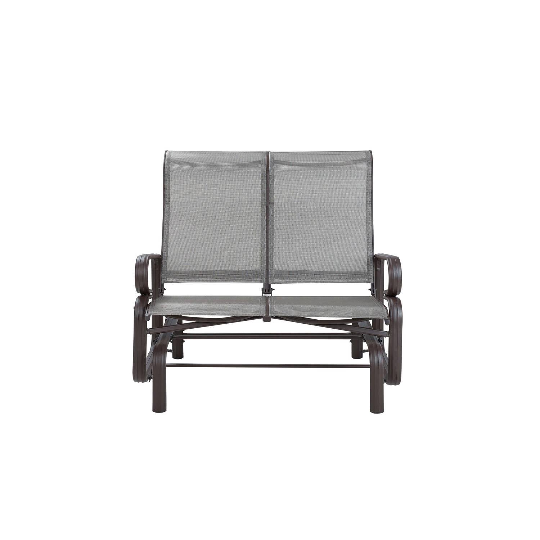 Beliani BORGIO Tuinbank Aluminium 78 x 114 cm