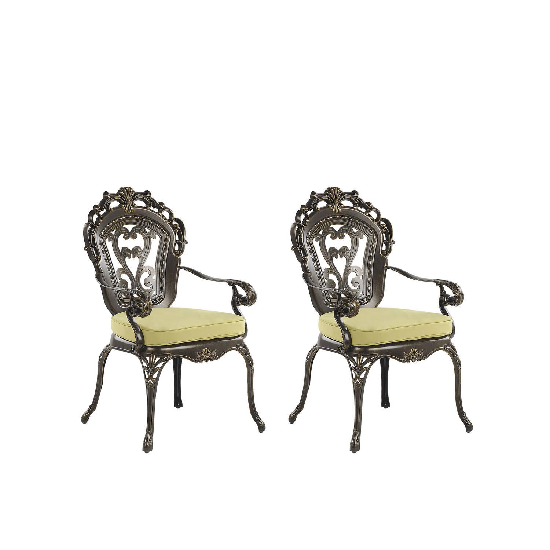 Beliani SAPRI Tuinstoel set van 2 Aluminium 55 47 x 69 44 cm