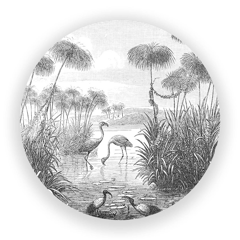 Wandcirkel Retro Natuur