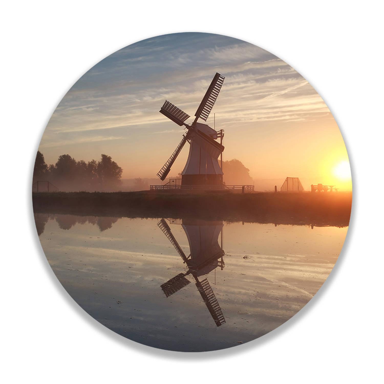 Wandcirkel Hollandse Windmolen