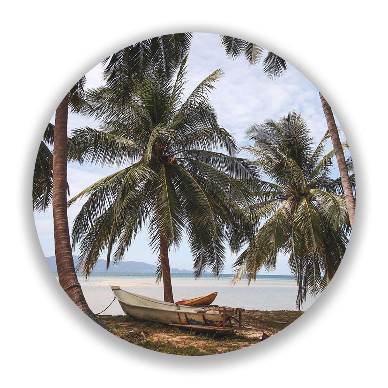 Wandcirkel Tropische Palmbomen