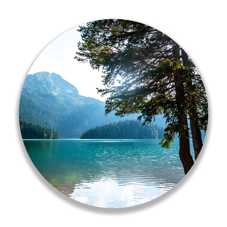 Wandcirkel Lake View