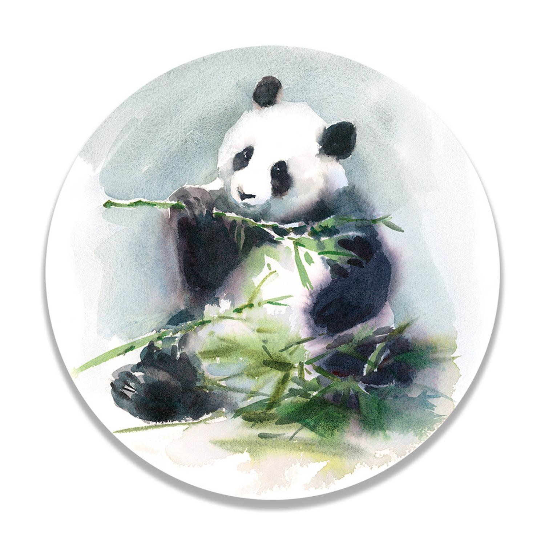 Wandcirkel Eating Panda