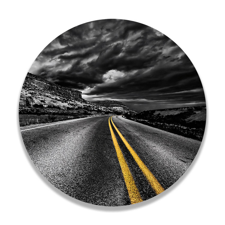 Wandcirkel Stormy Road