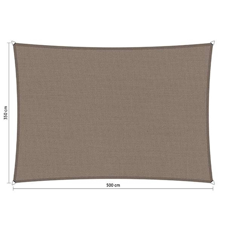 Shadow Comfort waterafstotend rechthoek 3,50x5 Stonegrey