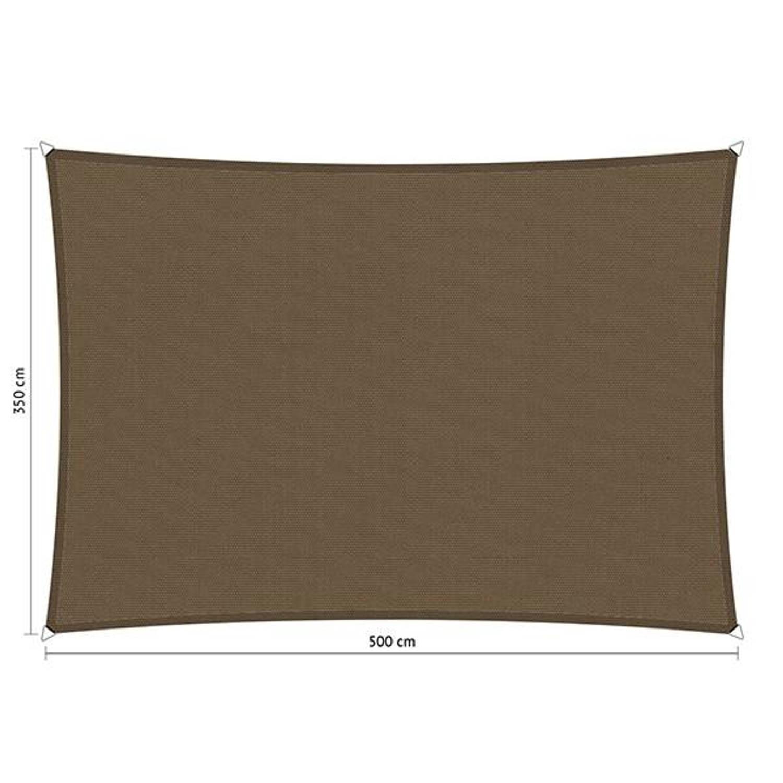 Shadow Comfort waterafstotend rechthoek 3,50x5 Taupe