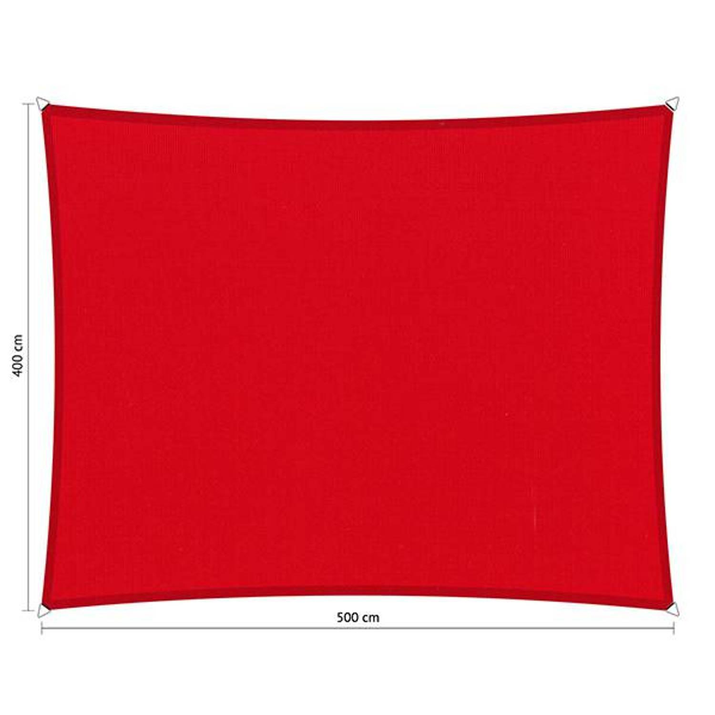 Shadow Comfort waterafstotend rechthoek 4x5 Red