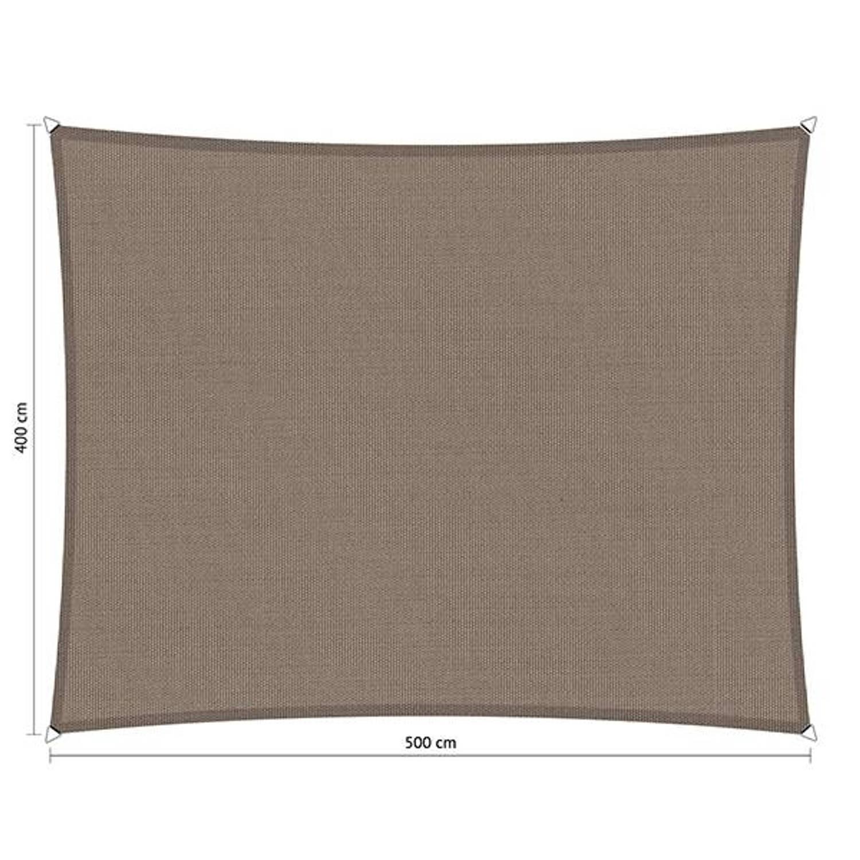 Shadow Comfort waterafstotend rechthoek 4x5 Stonegrey