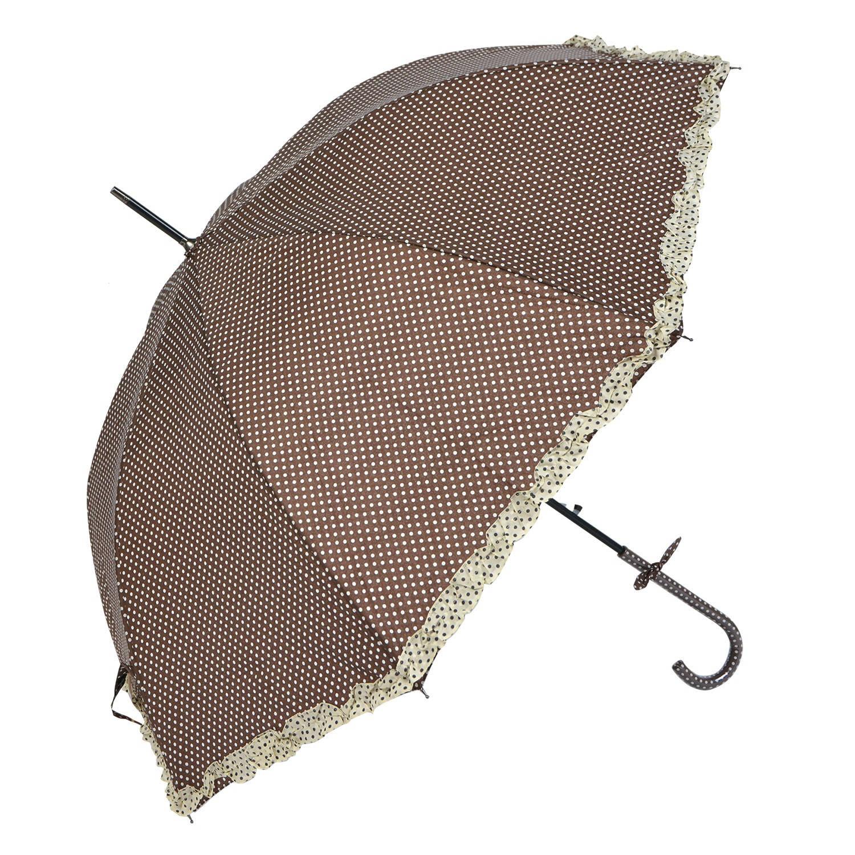 Juleeze Paraplu Ø cm bruin Bruin Polyester Stippen JZUM0030CH
