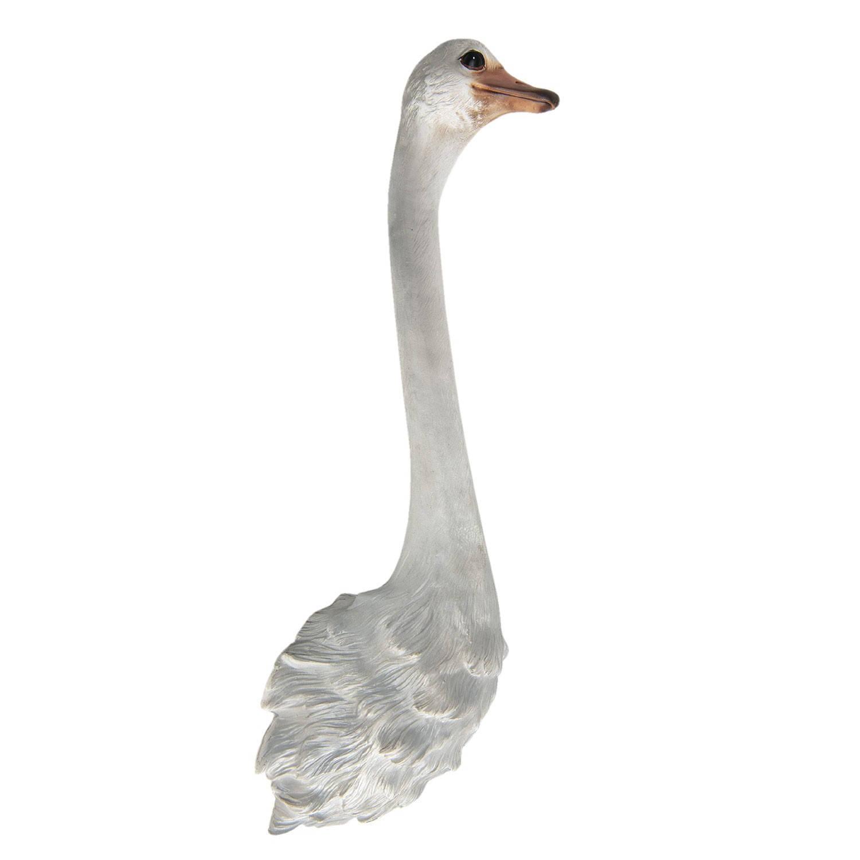 Clayre & Eef Wanddecoratie struisvogel 19*13*63 cm Wit Polyresin Struisvogel 5PR0053