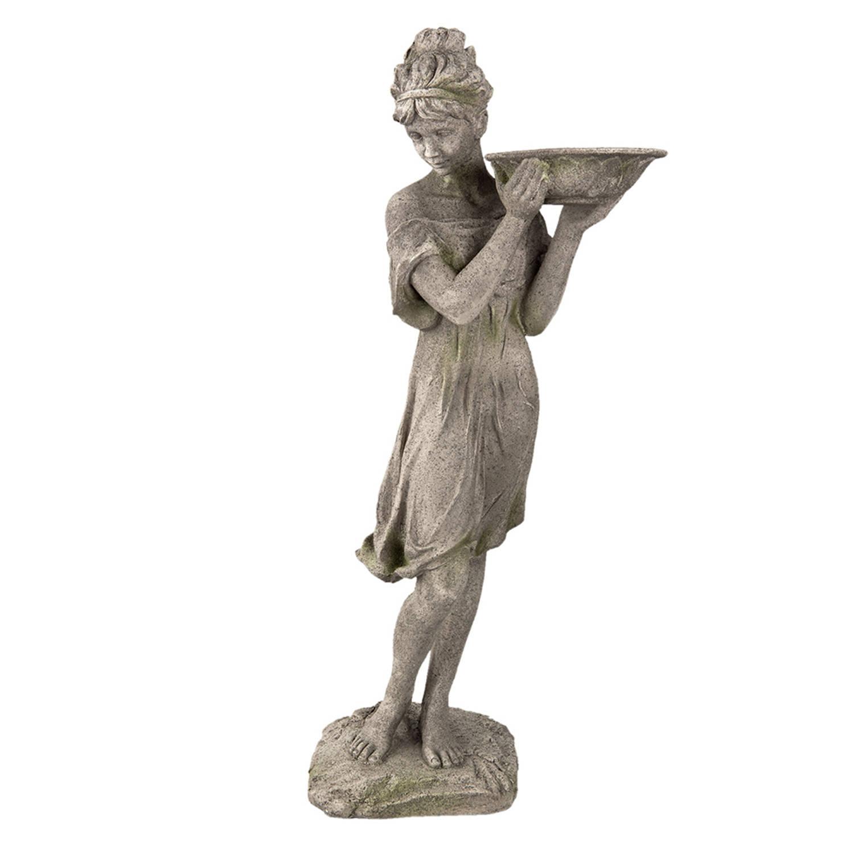 Clayre & Eef Decoratie Beeld 5pr0041 32*30*77 Cm Grijs Polyresin online kopen