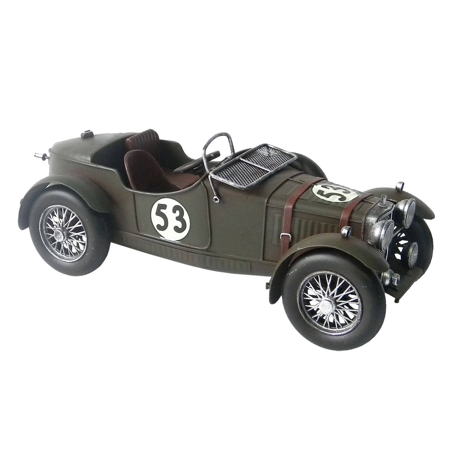 Model Race Auto Legergroen Cabriolet