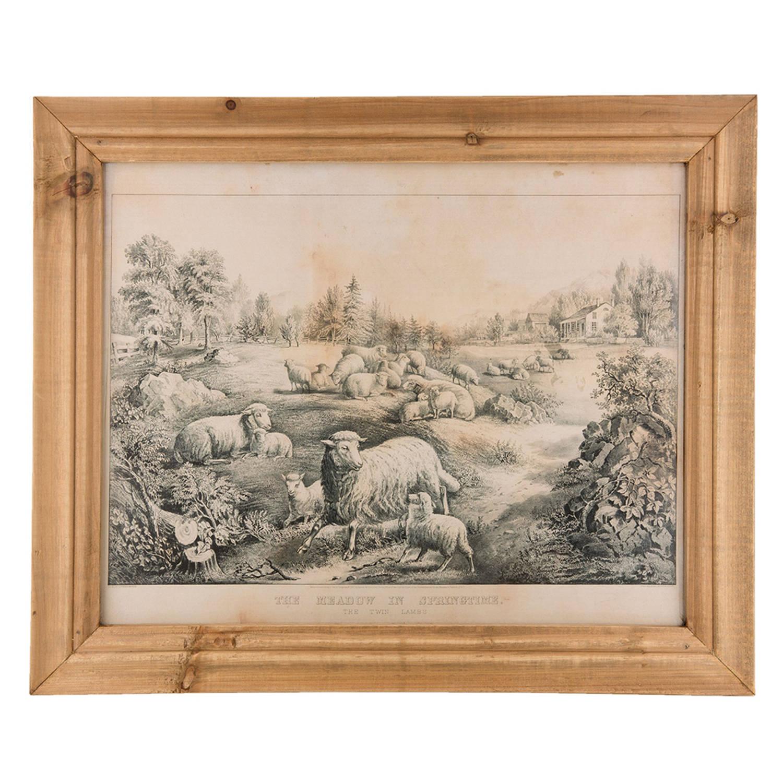 Clayre & Eef Schilderij 6h1601 60*2*50 Cm - Bruin Hout Muurdecoratie